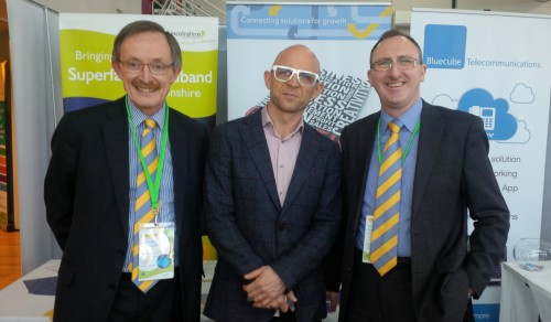Jason on the CDI Alliance stand with Stuart McFarlane (right) and Richard Lukey